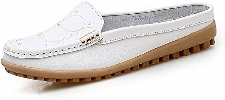 YTTY weissliches Halb Schleppendes Des Leders Beschuht Schuhe Der Schuhe Der Einfachen weisslichen Schuhe Der Männer
