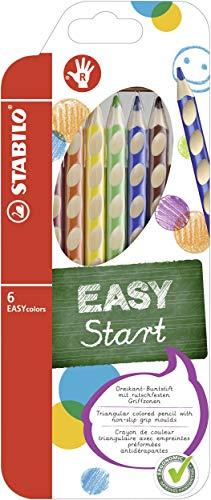 Matita colorata Ergonomica - STABILO EASYcolors - per Destrimani - Astuccio da 6 - colore Marrone Chiaro