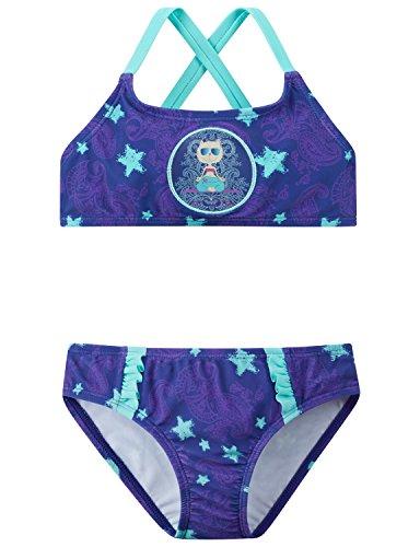 Schiesser Mädchen Beach Cat Zoe Bustier-Bikini Badebekleidungsset, Blau (Lila 820), 104