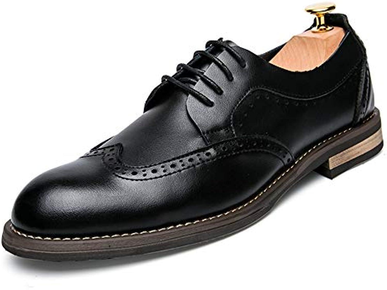 YJiaJu YJiaJu YJiaJu Fashion Oxford Casual Classic Pure Colour Intagliato Low Top Scarpe Stile Brogue Britannico per Gli Uomini... | Elegante e solenne  | Uomini/Donna Scarpa  eb9a02