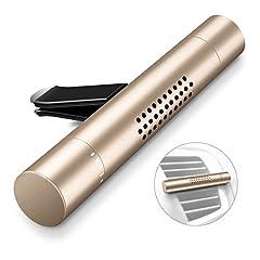 Idea Regalo - Humixx Deodorante per Auto, Veicolo Aromaterapia Diffusore Purificatore d'Aria Aroma con 3 Barre Profumate per Veicolo Office Travel da Viaggio e Altro (Oro)