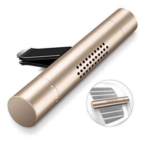Humixx Deodorante per Auto, Veicolo Aromaterapia Diffusore Purificatore d'Aria Aroma con 3 Barre Profumate per Veicolo Office Travel da Viaggio e Altro (Oro)