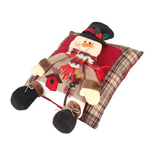 Schneemann-kissen (Die neue Leinen Kissen Weihnachten Schneemann Geld Weihnachtsdekoration, Weihnachten Festliche Atmosphäre)
