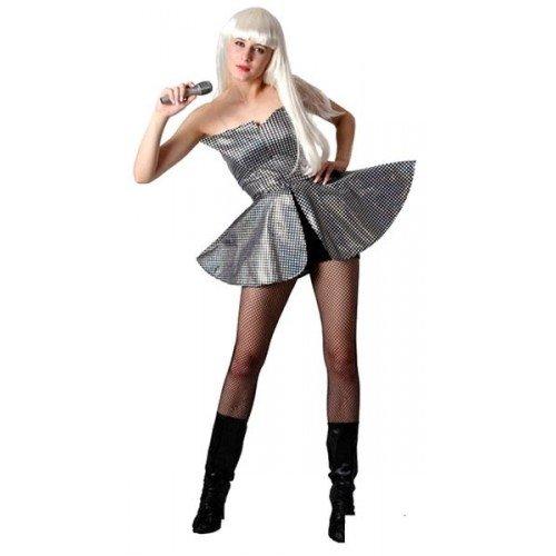 P 'tit Clown 86408Kostüm Erwachsene Luxe Pop Star–38und 42–Silber