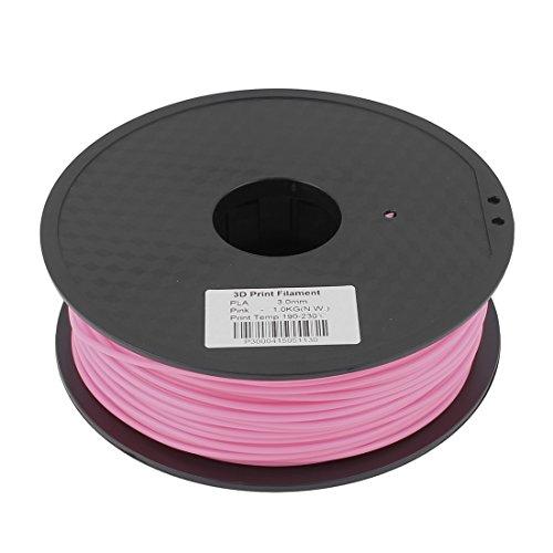 Preisvergleich Produktbild sourcingmap® Rosa 3mm Pla 1kg/2,2lb 3D Drucker Filament für RepRap Makerbot Weistek de