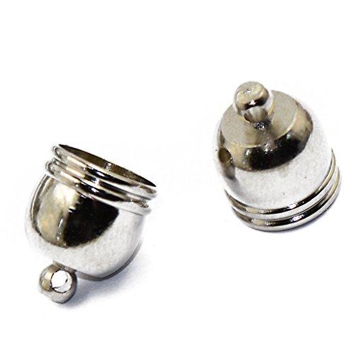 9x8mm Bell (10Pcs Glocken Form Perlenkappen Endkappen Perlen Kappen Basteln Silber)