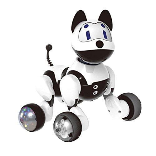 Homyl Elektronischer Intelligenter Roboter Katze / Hund, Intelligenter Sprachsteuerungs Roboter Haustier Welpe / Kätzchen Spielzeug für Kinder, Mädchen, Jungen Geschnke - Hund