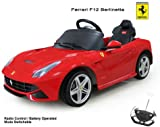 Licensed Ferrari F12 6V Electric Battery Powered Ride on Car with Remote - New