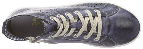 Rieker K3089, Baskets hautes fille Bleu - Blau (jeans / 14)