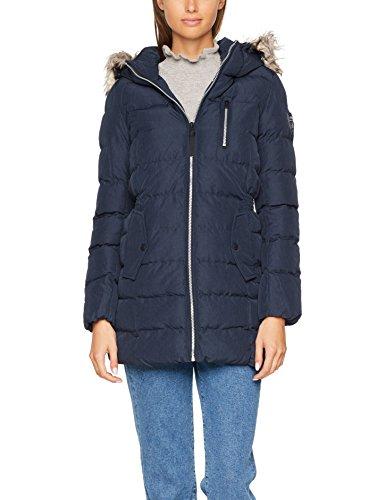 ONLY Damen Mantel Onldana Nylon Coat Otw Blau (Sky Captain Detail:Melange), 34 (Herstellergröße: XS)