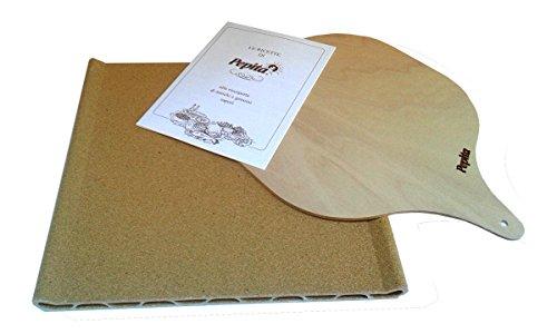 Pepita - Pietra refrattaria da forno e barbecue con pala in legno e ricettario