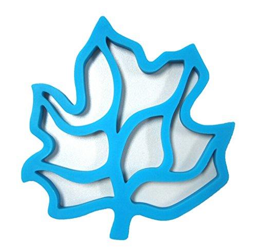 Kuke Maple Leaf Design Silikon Rutschfest Wasserdicht Matte Tisch-Sets Topflappen blau -