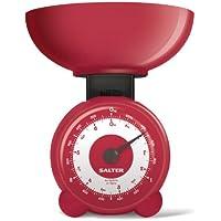 Salter - Bilancia meccanica da cucina Orb, colore: Rosso