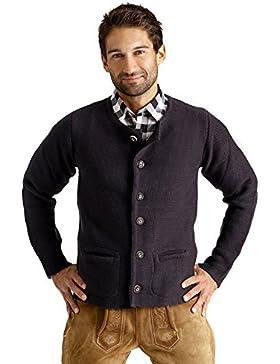 ALMBOCK Strickjacke Herren | Cardigan für Männer in schwarz-anthrazit, braun, grau | Trachten Strickjacke | Größen...