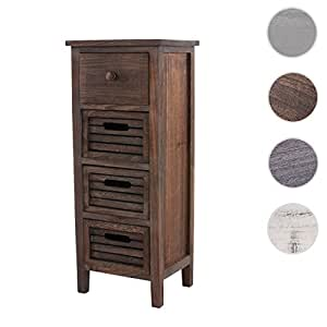 schrank kommode 74x30x25cm shabby look vintage braun k che haushalt. Black Bedroom Furniture Sets. Home Design Ideas