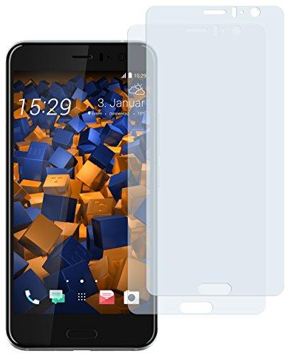 mumbi Schutzfolie kompatibel mit HTC U11 Folie klar, Bildschirmschutzfolie (2x)