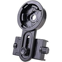 Ouba Cámara universal del telescopio astronómico Smartphone Clip titular de montaje portátil soporte duradero cuna adaptador Negro