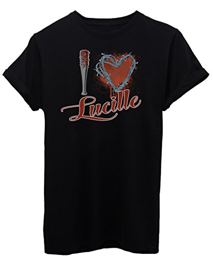 T-Shirt I LOVE LUCILLE WALKING DEAD - SERIE TV - by iMage - Uomo-XL-Nera