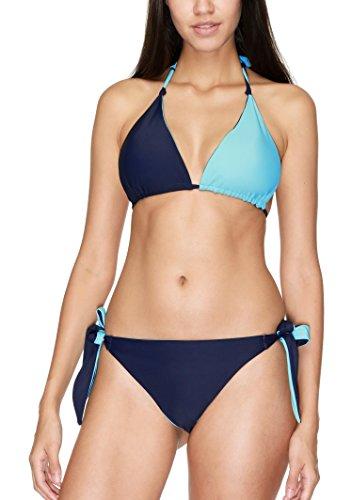Charmo Push Up Bandeau Bikini Set Damen Pushup Badeanzug viele Farben und Größen Neckholder Wasser Blau L