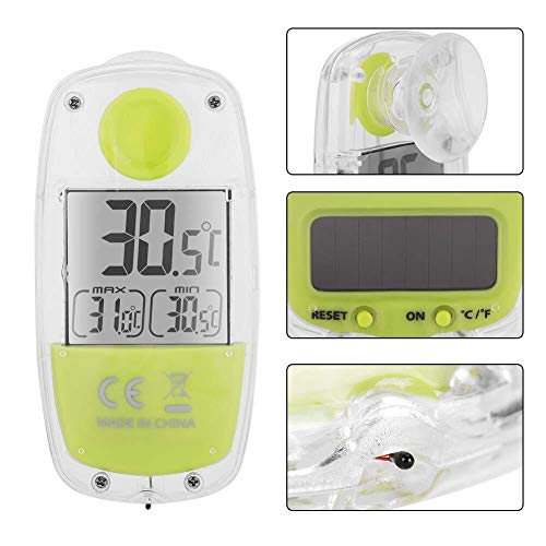 Skitior Precisión TS-809G Pantalla LCD Monitor de energía Solar Ventana de Inicio Termómetro Medidor...