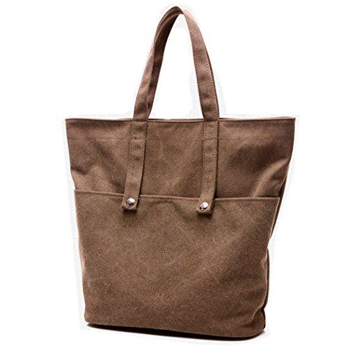 HongyuTing Damen Qualität Leder PU Schultertasche Damen Leder Handtaschen Umhängetasche Kaffee