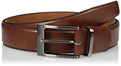 Van Heusen Mens Leather Flex Comfort Stretch Belt With Metal Loop