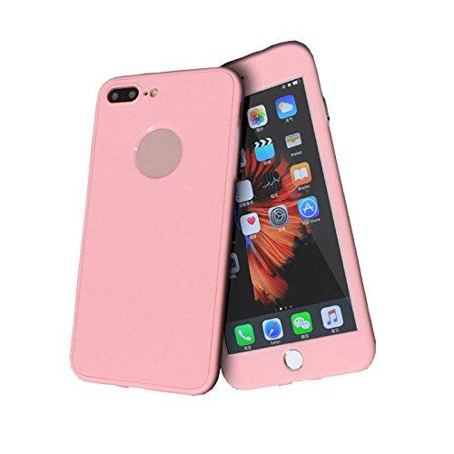 Cover iPhone 6/6s 360 Gradi Morbido Full Body Ultra Sottile TPU Antiscivolo Protettiva Custodia Case DECHYI (4.7 - Bianco+Rosa) Rosa