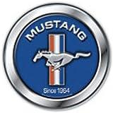 Ford Mustang Alu blau Cartel de Chapa Placa metal plano Nuevo 30x30cm VS1285-1