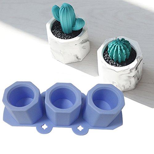Silikon-Form für Blumentöpfe, Keramik, Ton, Handarbeit, zum Basteln von Beton, Ton, Formen von Hand - Ton Formen
