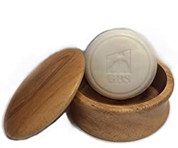Mens Grooming Set with Wood Shaving Bowl & 97% All Natural Gbs Ocean Driftwood Shave Soap