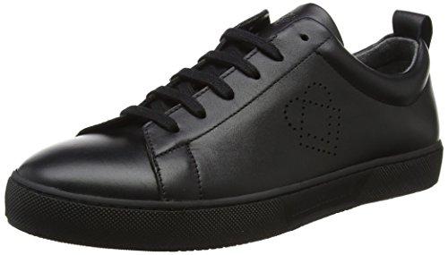 Liebeskind Berlin Damen LH173200 Snappa Sneaker, Schwarz (Oil Black), 40 EU