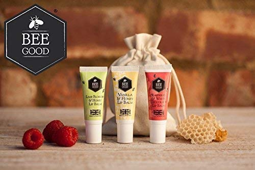 Bee Good - Natürlich formuliert Lippenbalsam Trio (10 ml jede) - mit Britisch bezogen Biene Zutaten - Potenz Aktiv Pflanze Öle Crambe, Echium, und Borretsch - Reich und auffüllend