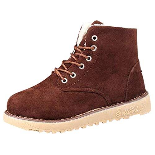 Winterschuhe Damen Stiefeletten Stiefel Outdoor Worker Boots Gefüttert DOLDOA