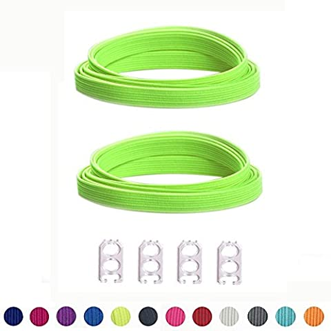 No Tie Shoelaces for Kids and Adults - Sports Fan Shoelace - Flat Elastic Shoe Laces Replacement shoelace For Athletic Running Sneaker Boots Board Shoes Casual Shoes