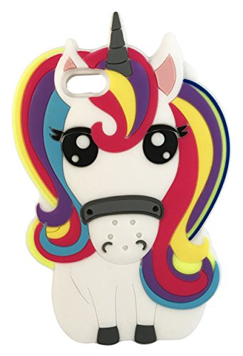 SKS Distribution® Regenbogen Fantasie Einhorn Pony Pferd weichen Silikon Handy Fall für Apple iPod touch 5th generation (Ipod Generation 5 Tier-fällen)