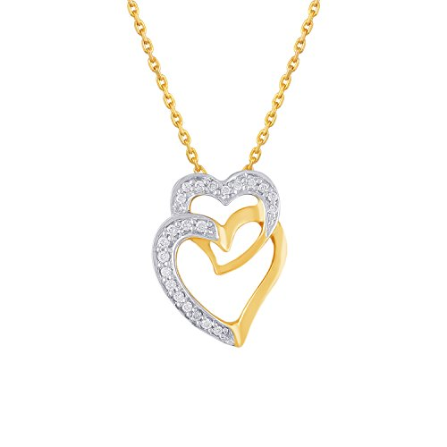 Giantti 14carats Diamant pour femme Collier Pendentif cœur (0.094CT, VS/Si-clarity, Gh-colour)