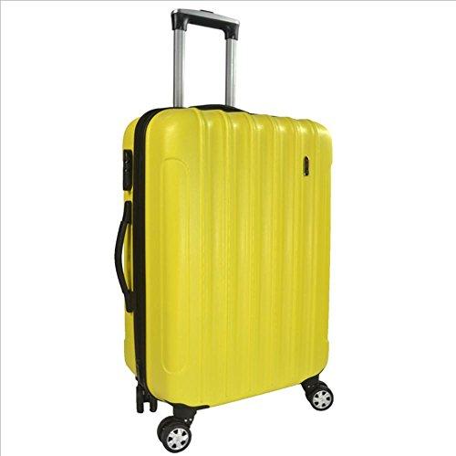 Xiuxiandianju 20 pollici 24 pollici commercio estero valigia uomini ABS macchia password imbarco casella caster Valigia Trolley da viaggio (56-75L) Yellow