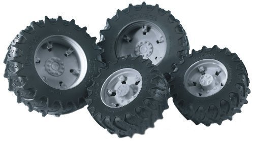 Bruder Twin Tires with Grey Rims for 03000 Tractor Series by Bruder -