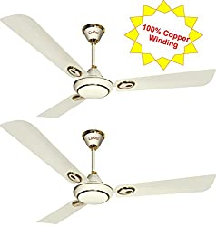Candes Futura 1200mm Ceiling Fan 48 Inch Pearl Ivory Pack of 2 (100% Copper Winding with 2 Year warranty 5 Star Rating)