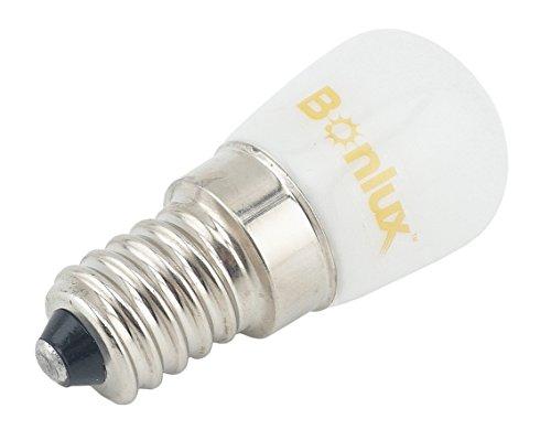Doright E14 SES LED Lampe 220-240V Pygmy Birne für Kühlschrank/Mikrowelle/Dunstabzug/Nähmaschine Kühlweiß 6000K 1.5W entspricht 15w Glühlampe(2-Stück)