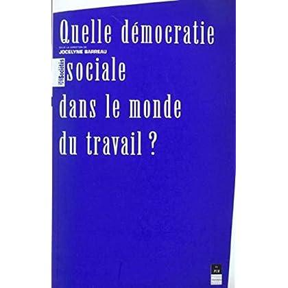 Quelle démocratie sociale dans le monde du travail ?