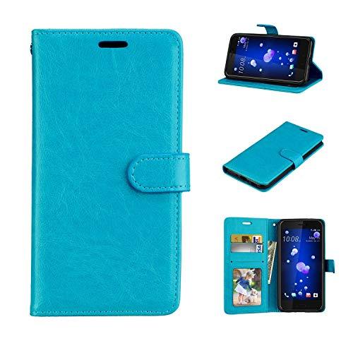 Für BQ Aquaris E4.5 Hülle, Geschäft Leder Wallet Schutzhülle Case Cover für BQ Aquaris E4.5 [Blau]