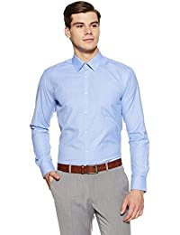 Park Avenue Men's Solid Slim Fit Formal Shirt