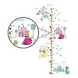 decalmile Stickers Muraux Princesse Château Hauteur Mesure Tableau Autocollants Mural pour Enfants Chambre Bébé Fille