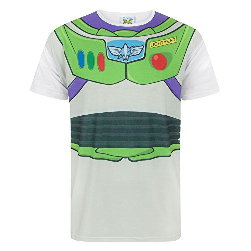 Disney Toy Story Buzz Lightyear Costume Men's T-Shirt (L) (Lightyear Disney Kostüm Buzz)