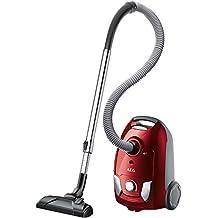 AEG VX4 Efficiency Animal Aspiradora con bolsa compacta especial mascotas, color rojo sandía