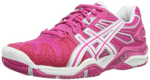 Asics GEL-RESOLUTION 5 Damen Tennisschuhe, Pink (pink / weiÃY), 38 EU (Damen Asics Resolution Gel)