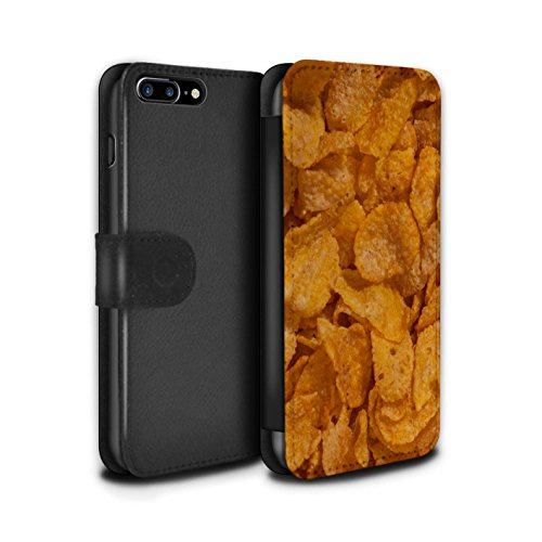 STUFF4 PU-Leder Hülle/Case/Tasche/Cover für Apple iPhone 7 Plus / Pack 18pcs Muster / Getreide Kollektion Corn Flakes
