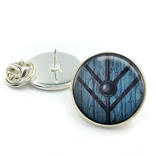 Butterfly N Beez Plateado Lagertha Shield Maiden Vikings Lapel Tie Pin Insignia| Ragnar| Lagertha Viking| Lagertha Vikingos| joyería vikinga| Doncella del Escudo| Regalo para Ella