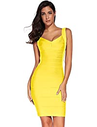 8983ebdfc6ce Shownice Donne Rayon Backless Bandage Bodycon Cocktail Party Aderente Mini  Vestito